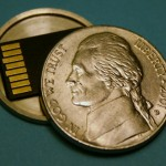 SD Card stashed in secret nickel spy coin
