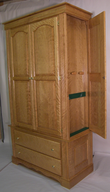 Secret Door on Armoire Reveals Hidden Gun Compartment