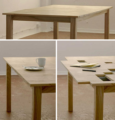 Table With Secret Desk Compartments