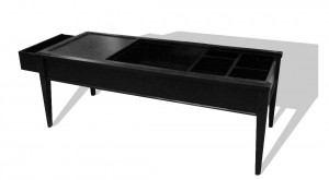 Coffee table with hidden compartment diversion safes
