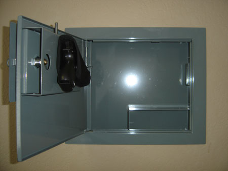 Charmant Hidden, Lockable Metal Fuse Box Diversion Wall Safe