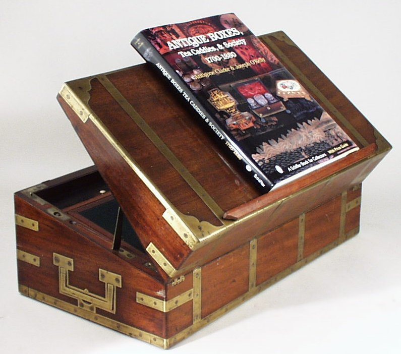 Captain's box with false bottom and secret compartments