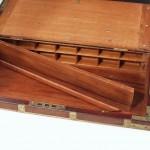 Custom captain's box with false bottom and hidden pigeon holes