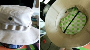 Create a secret compartment in hat