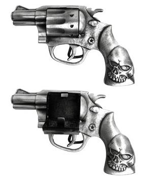 Secret Stash Compartment in Revolver Belt Buckle
