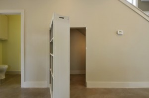 Secret Bookcase Entrance to Room Under Stairs