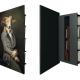 Secret Bookshelves Concealed Behind Large Painting