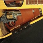 Custom Italian Guitar with Secret Gun Stash Compartment
