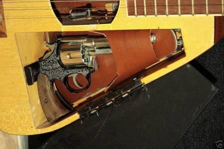 Guitar with Hidden Gun Compartment