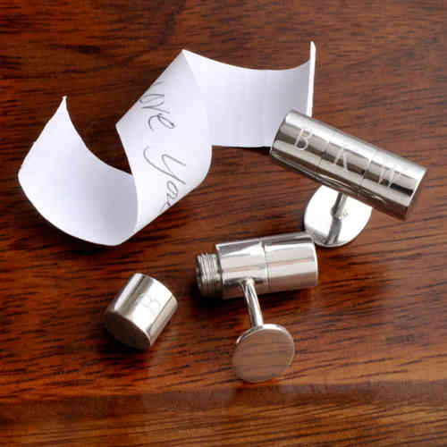 Personalized Secret Message Compartment Cufflinks