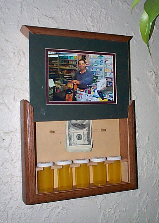 Picture frame with secret stash compartment stashvault False wall safe