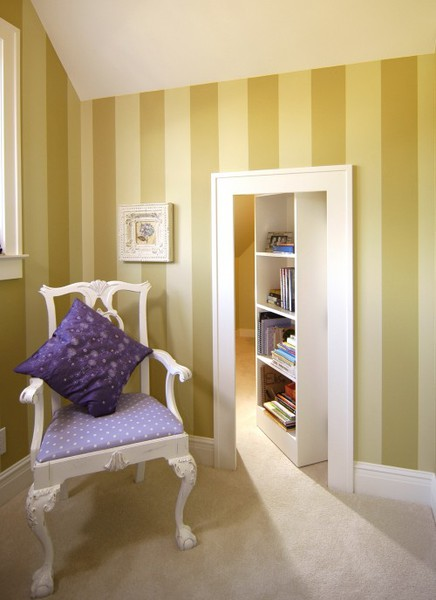 Hidden Room Behind Swing-In Bookcase Door