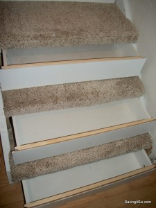 Hidden Storage Drawers Concealed Beneath Basement Steps