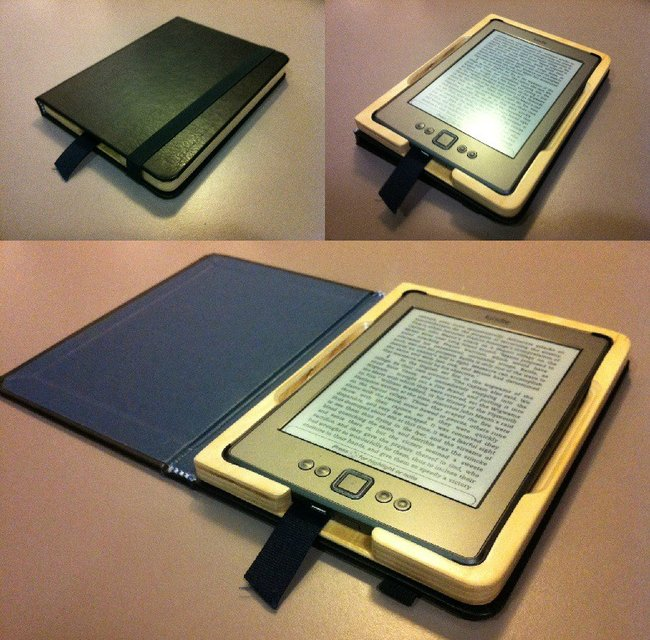 Handmade Hollow Book Cover for Amazon Kindle