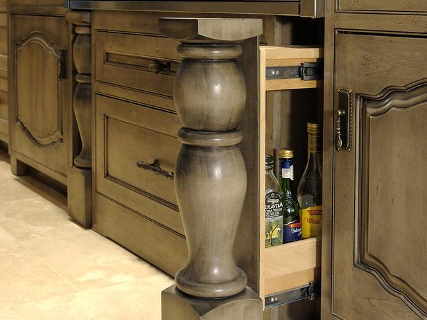 Secret slide out compartment in cabinet stashvault for Secret drawer kitchens