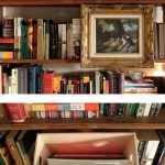 Secret Compartment Box Hidden Behind Painting on Shelf