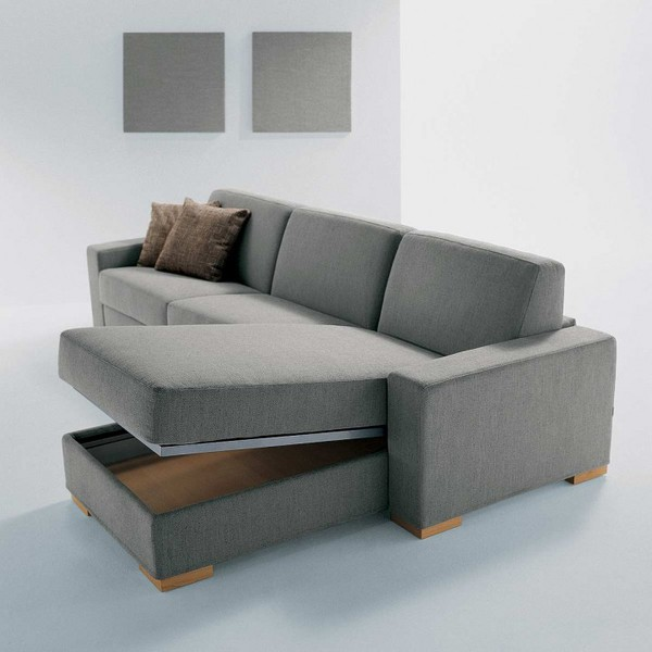Hidden storage compartment in chaise lounge furniture : chaise lounge with storage - Sectionals, Sofas & Couches