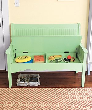 Secret Storage Wooden Bench