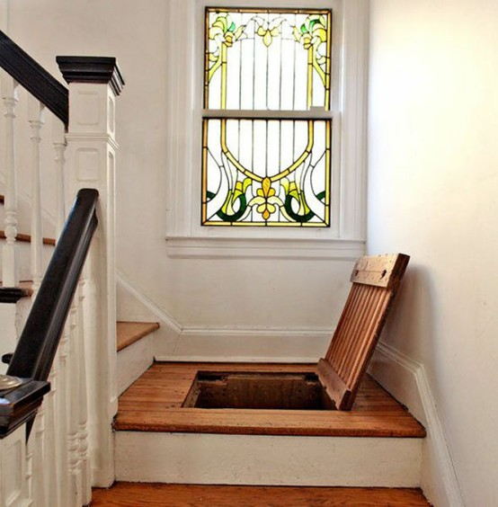 Secret Trap Door in Stair Landing