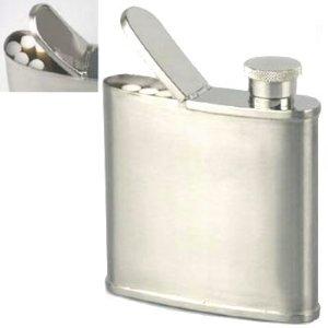 Flask with Secret Cigarette Compartment