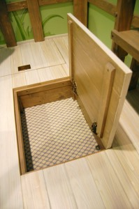 Trap Door in Floor / Secret Compartment