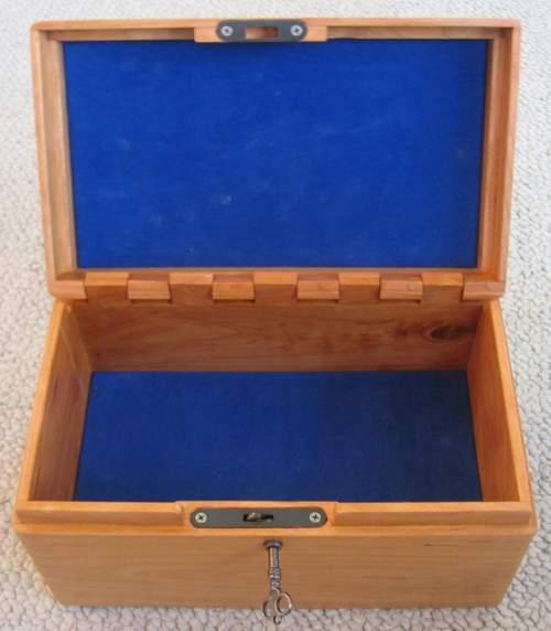 Custom made false bottom box
