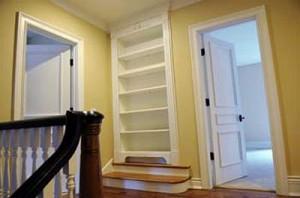 Secret Door Behind Bookcase to Media Room
