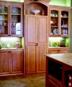 Secret walk-in kitchen pantry