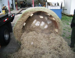 Hidden Drug Smuggling Compartment Found in Hay Bales