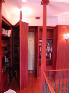 Hidden Entrance Behind Secret Bookcase Door