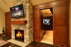 Hidden Wall Panel to Home Theater Room