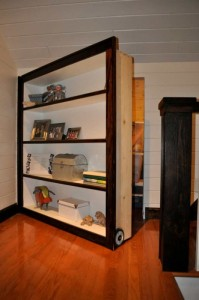Secret Moving Bookshelf Door To Attic Stashvault