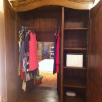 Hidden door to Narnia playroom in wardrobe/closet