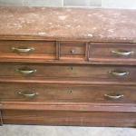 Wooden dresser with secret compartment metal safe - furniture