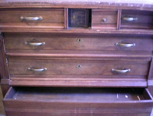 Dresser with Secret Safe Built In