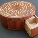 Hidden Drawer Concealed in Wooden Puzzle Box