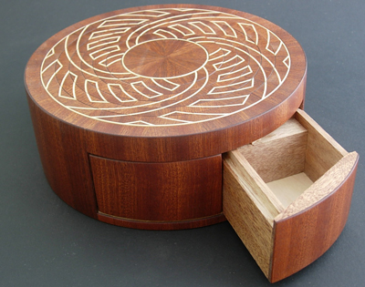 Lotus Box With Secret Stash Compartment Drawer Open