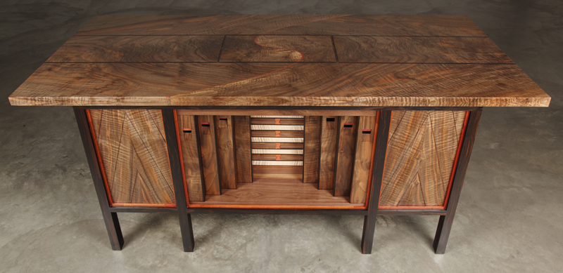 Secret Compartment Pipe Organ Desk