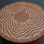 Circular lotus box with secret compartments