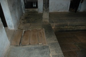 Secret trap door in  Padmanabhapuram Palace