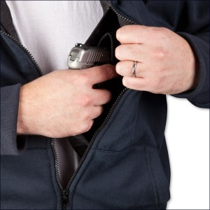 Hoodie Clothing with Hidden Gun Holster