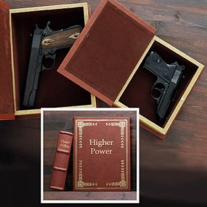 Hollow Book Secret Gun Compartment