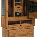 Flatscreen TV Armoire with Secret Gun Cabinet