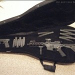 Glock and AR15 in Secret Gun Compartment Guitar Case