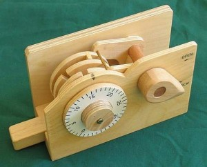 Demonstration combination lock made from wood