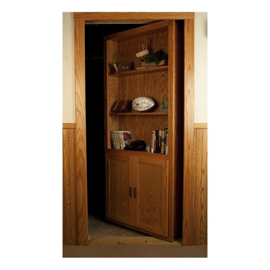 Production Secret Bookshelf Door Avoids The Hassles With Custom Hidden