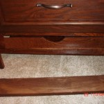Secret drawer in bedside table