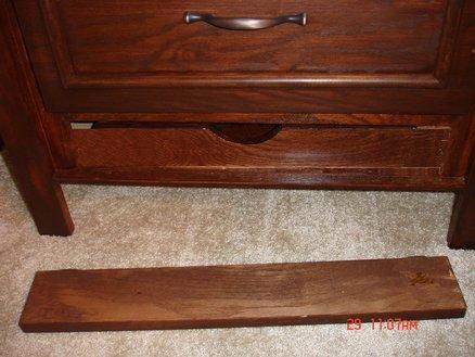 Secret drawer in bedside table