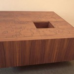 Puzzle Box Table Includes Hidden Compartments