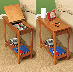 Secret Storage chair side hidden storage table | stashvault